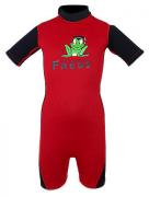 116-158cm Neopreen zwempak zwart/rood