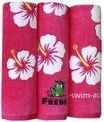 Handdoek 70cm x 140cm hibiscus design